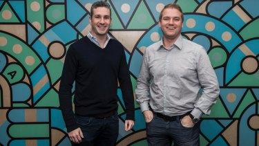 Prospa co-founders Beau Bertoli and Greg Moshal.