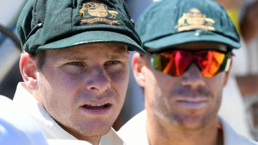 In the eye of the storm: Australian cricket's former leaders, Steve Smith and David Warner.