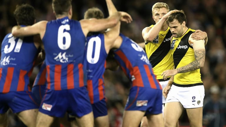 The dramatic finish to last year's VFL grand final.