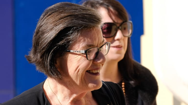 Independent Indi MP Cathy McGowan outside court on Tuesday.