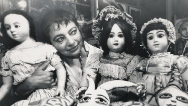 Mirka Mora with part of her doll collection, 1988.