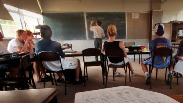 The teacher is prohibited from teaching for at least 18 months.