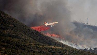 Hundreds of firefighters battled the huge bushfire sparked by a gender-reveal gone wrong.
