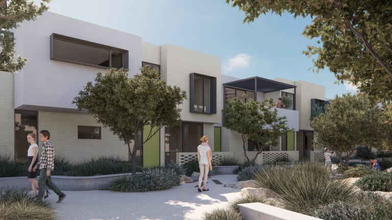 An artist's impression of the Salt Lane medium-density housing planned for the Shoreline Estate in North Coogee.