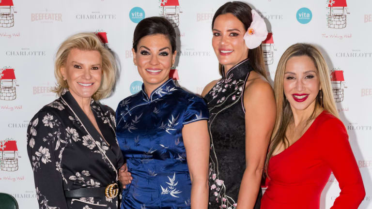 "Victoria Rees, Nicole O'Neil, Krissy Marsh and Matty Samaei at the ""Only In Shangers Lunch"" in aid of The Wishing Well on Wednesday."