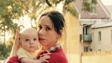 Audrey (Alison Bell) and her baby Stevie in 'The Letdown'