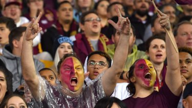 Queensland fans make themselves heard, although they tasted a rare series defeat.