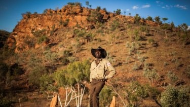 Michael Murrimal of Timber Creek at the Gregory National Park in the Victoria River Region in the Northern Territory.