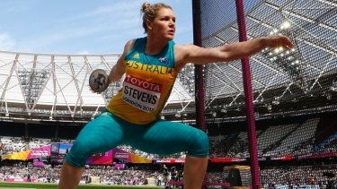 Australia's Dani Stevens is set to shine in the discus.