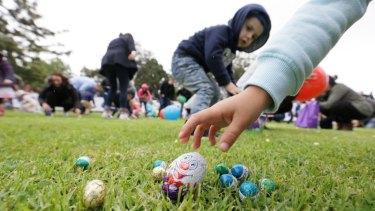 An egg hunt in Geelong.