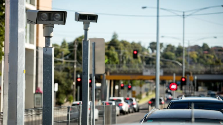 Road safety cameras at the intersection of Batesford Road and Warrigal Road in Chadstone.