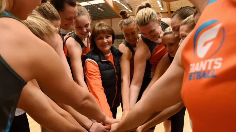 All in: The team is alway front of mind for Giants netball coach Julie Fitzgerald.