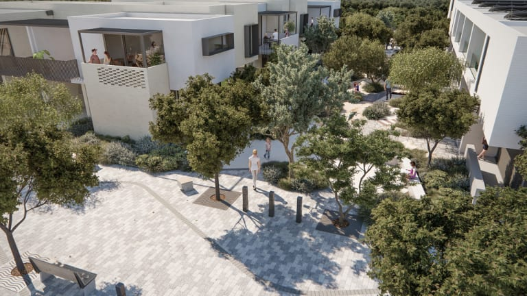 An artist's impression of the Salt Lane medium-density housing planned for the Shoreline Estate in North Coogee.