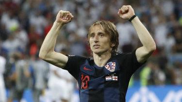 Superstar: Luka Modric may be the world's best midfielder.