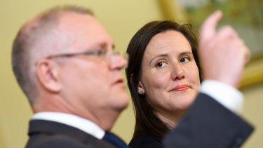Prime Minister Scott Morrison and Jobs Minister Kelly O'Dwyer.