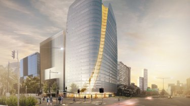 Walker Corporation's Tower 5, designed by Woods Bagot for Collins Square in Melbourne.