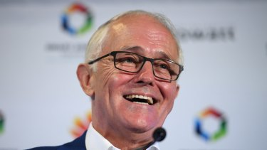 Former prime minister Malcolm Turnbull delivers an address at the NSW Smart Energy Summit earlier this month.