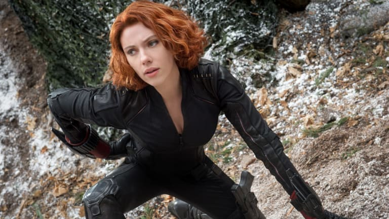 Scarlett Johansson as Black Widow/Natasha Romanoff in Marvel's Avengers: Age Of Ultron.