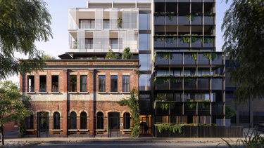 Render of Piccolo's new project at 71 – 75 Argyle Street, Fitzroy