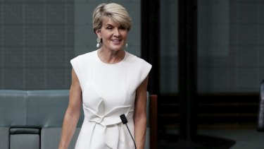 Liberal MP Julie Bishop announcing she will not recontest the next election