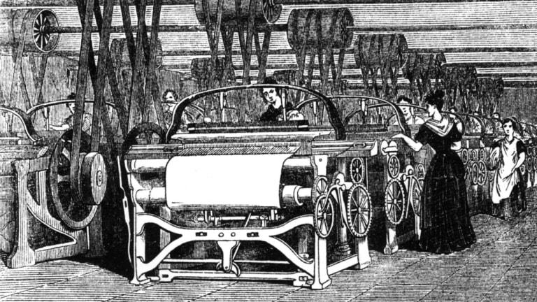 There are few human-operated looms than there were during the industrial revolution, but there's more annual leave.