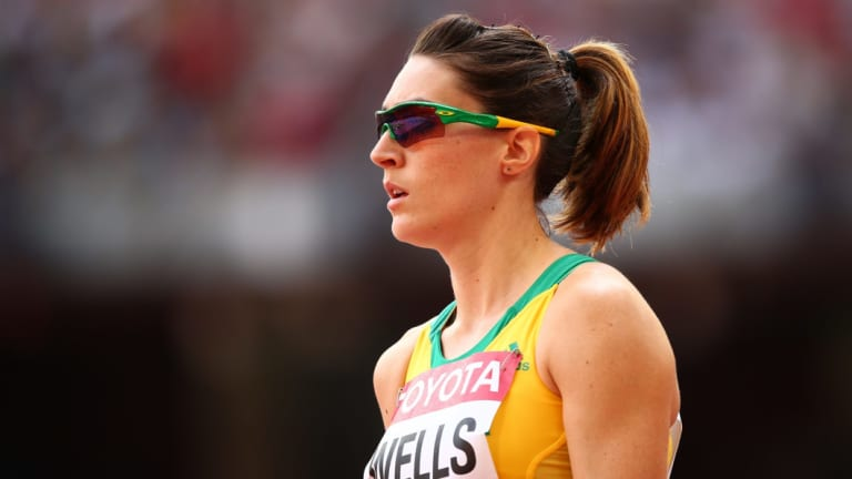 Lauren Wells is taking a backseat on the track.