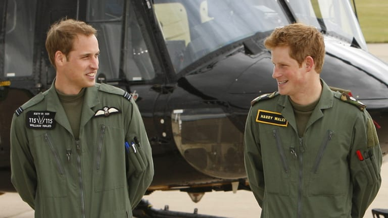 Prince William, left, will be Prince Harry's best man, returning the favour from his own wedding.