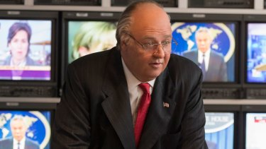 Russell Crowe as former Fox News CEO Roger Ailes in The Loudest Voice.