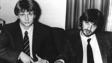 Cor van Hout, left, and Willem Holleeder, who was convicted of his friend's murder.