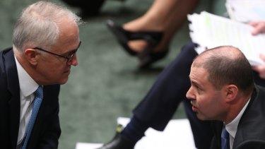 Prime Minister Malcolm Turnbull and Minister Josh Frydenberg.