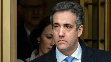 Michael Cohen, US President Donald Trump's former lawyer.