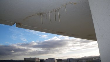Waterproofing defects in a Sydney apartment block.