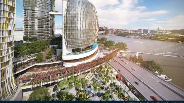 The multibillion-dollar Queens Wharf development will include Brisbane's first six-star hotel.