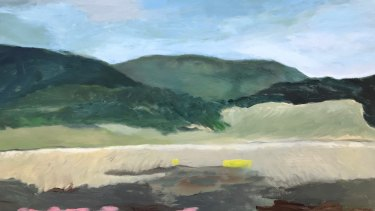 Patsy Hely, Lake George 1.2018. Oil on canvas board.
