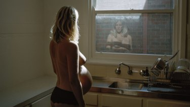 Greta in her kitchen, 36 weeks, Alana Holmberg,