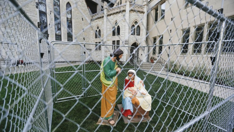 Christ Church Cathedral in Indianapolis has recently erected a diorama of Mary, Joseph and the baby Jesus in a cage in protest over the Trump administration's immigration policy.