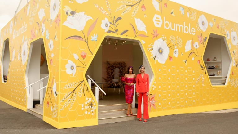 The Bumble marquee at Flemington.