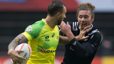 Close but no cigar: Quade Cooper's stint in the Australian sevens set up was short-lived.