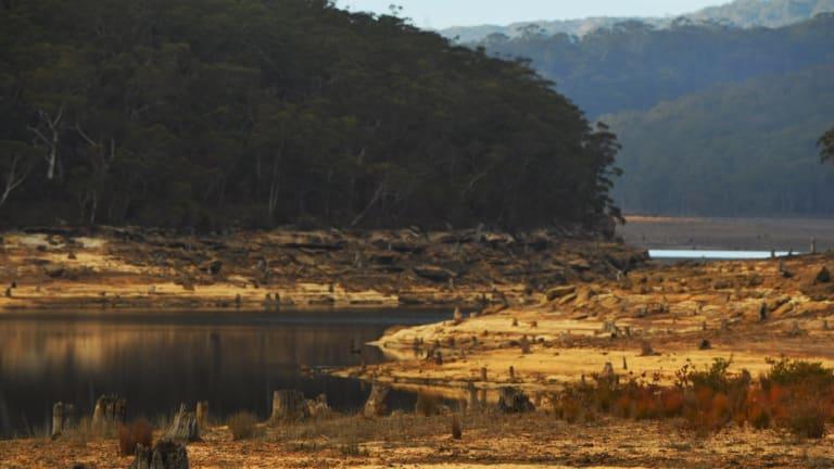 Cordeaux Dam, in the Illawarra, on August 2.