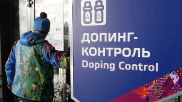 Doping control at the 2014 Winter Olympics in Russia.