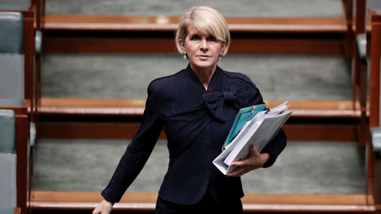 Foreign Affairs Minister Julie Bishop during Question time in June.