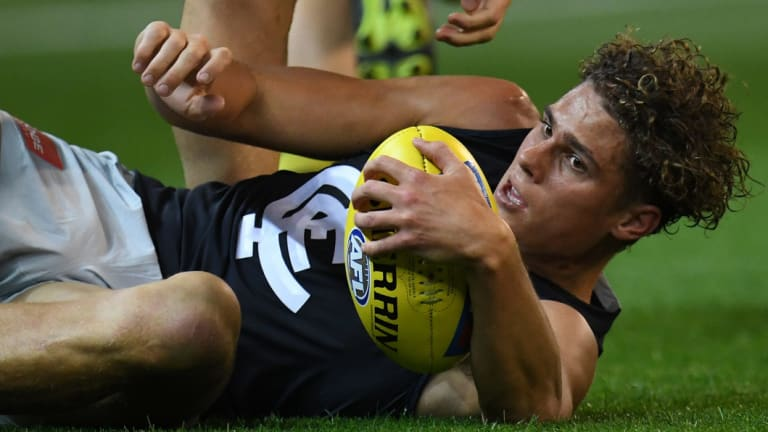 Charlie Curnow is seen as a key to  Carlton's future.