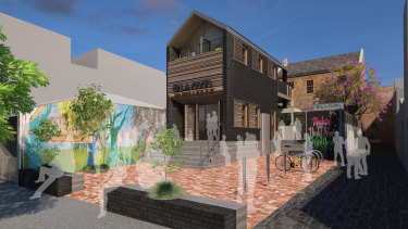 Illustrative design of the new La Mama Theatre in Carlton.