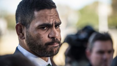 Low moment: Greg Inglis is grateful for his relationship with Todd Greenberg in wake of his drink-driving incident.
