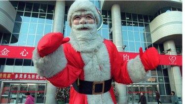 Santa Claus in Beijing