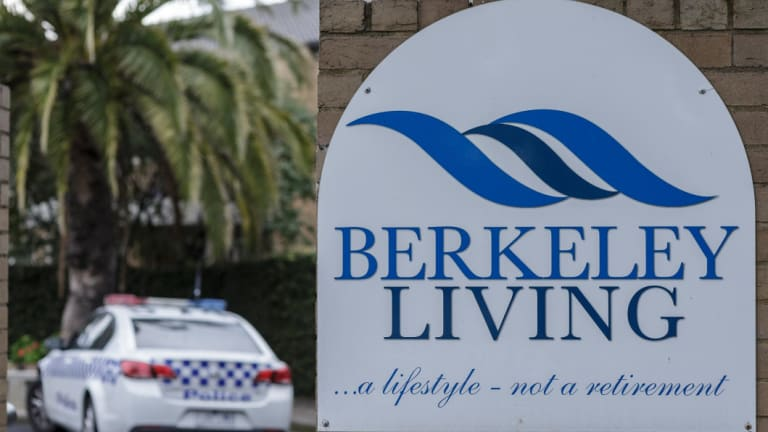 Concerns: Police investigated the wellbeing of residents at Berkeley Living.