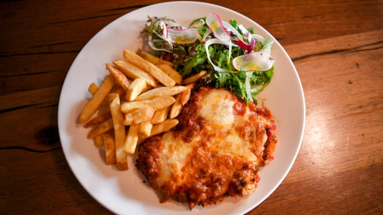 Eating a parma: surely the world's best way to make a difference.