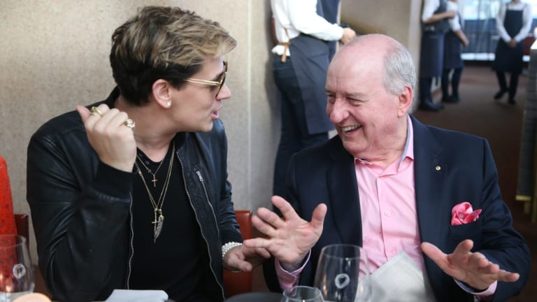 Birds of a feather: Milo Yiannopoulos with Alan Jones.