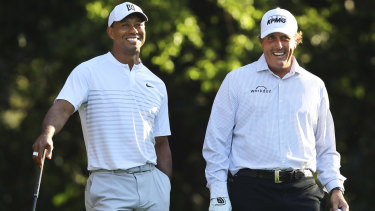 Tiger Woods and Phil Mickelson will play in a winner-takes-all match in November.