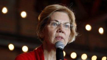 2020 Democratic presidential candidate Senator Elizabeth Warren.